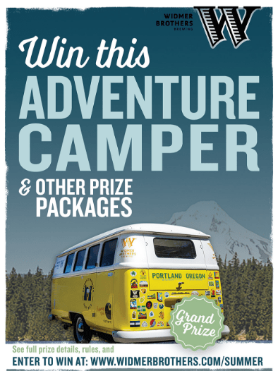Widmer Brothers Brewing Win an Adventure Camper Sweepstakes