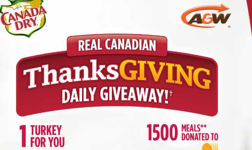 Canada Dry Real Canadian Thanksgiving Daily Contest