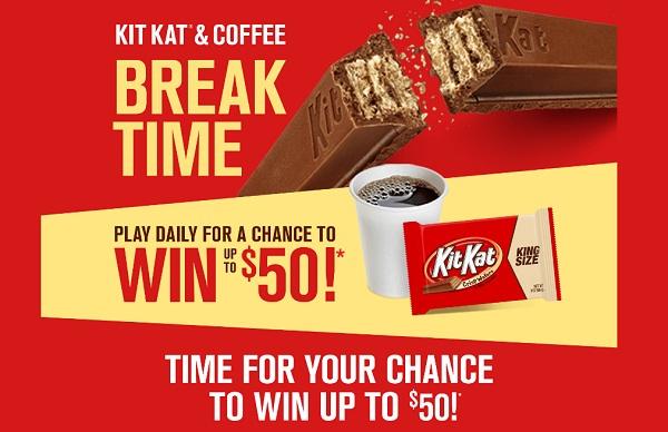Kit Kat Coffee Break Time Instant Win Game