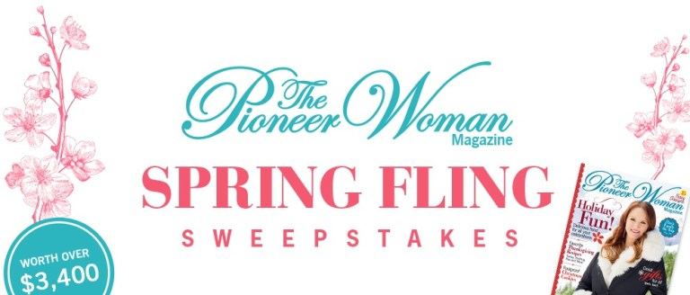Pioneer Woman Spring Fling Sweepstakes
