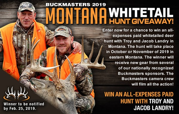 Buckmasters Montana Whitetail Dream Hunt Giveaway