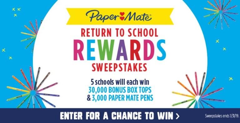 Paper Mate Return To School Rewards Sweepstakes