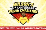 Wilson's 50th Anniversary Trivia Challenge Sweepstakes
