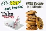 Tell Subway Feedback In 1 Minute Survey and Get a Free Cookie