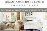 Elle Decor Anthropologie Room Decor Refresh Sweepstakes