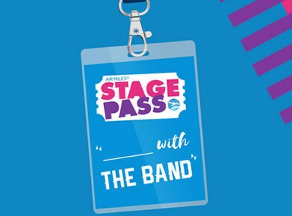 Air Miles Stage Pass With The Band Contest