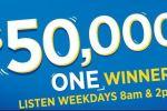 C100 FM $50,000 Giveaway Contest