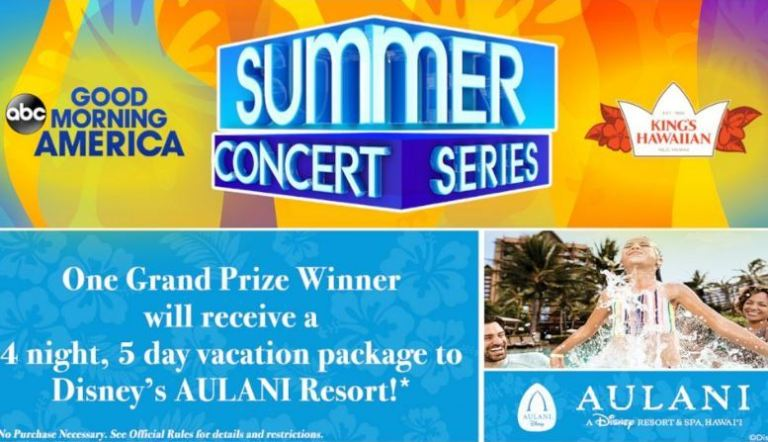 GMA Summer Concert Series Sweepstakes