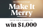 Food Group's Make It Merry Sweepstakes