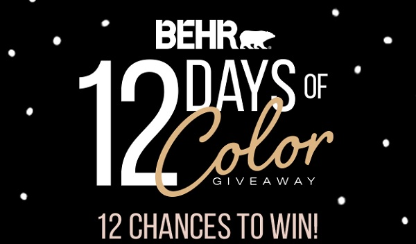 BEHR 12 Days of Color Sweepstakes