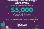 Rxsaver Season's of Savings Giveaway