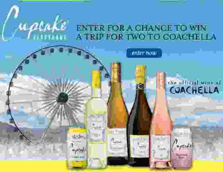 Cupcake Vineyards Coachella Sweepstakes
