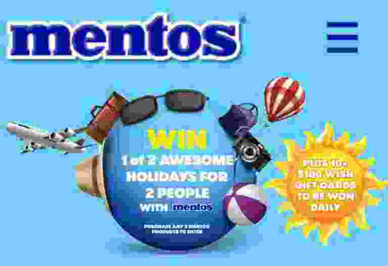 Mentos Win A Holiday Competition
