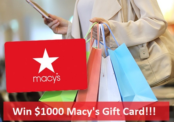 Macy's Gift Card Giveaway 2020