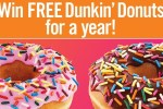 Dunkin' Donuts Sweepstakes 2020