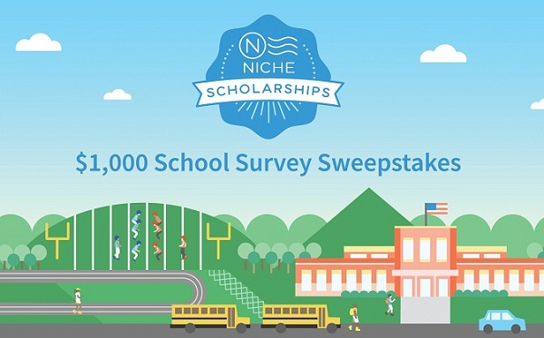 Niche $1,000 School Survey Sweepstakes