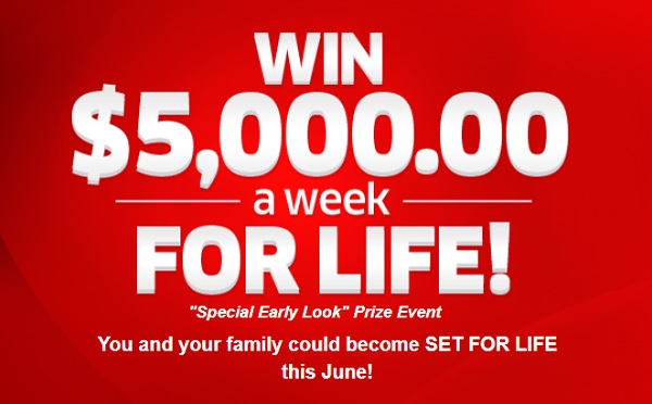 PCH.com $5000 A-Week-For-Life Giveaway