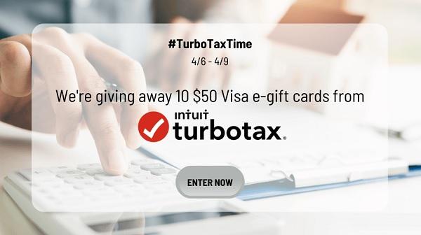 Saving TurboTax Gift Card Sweepstakes