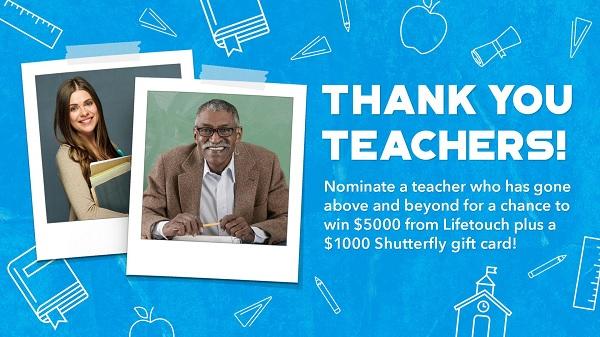 Lifetouch Thank You Teacher Contest