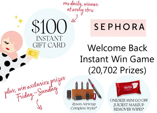 Sephora Welcome Back Giveaway