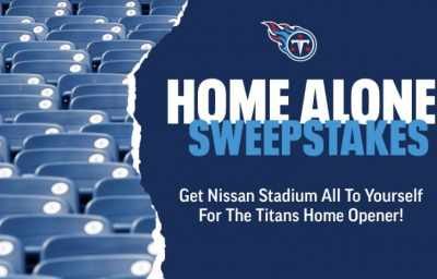 Tennessee Titans Home Alone Sweepstakes 2020