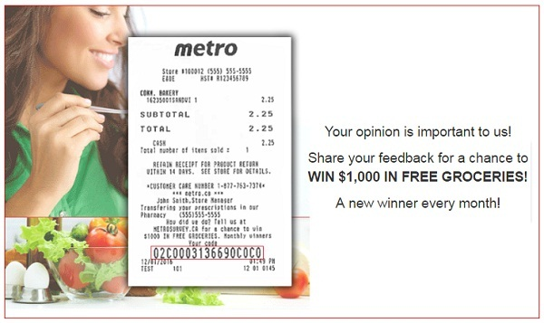 Metro Ontario Customer Survey Contest