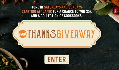 Food Network Thanksgiving Giveaway Code Word