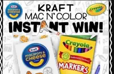 Kraft Mac N Color Sweepstakes