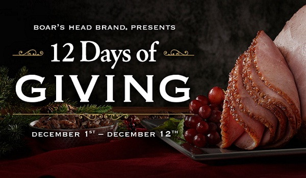 Boar's Head 12 Days of Sweepstakes