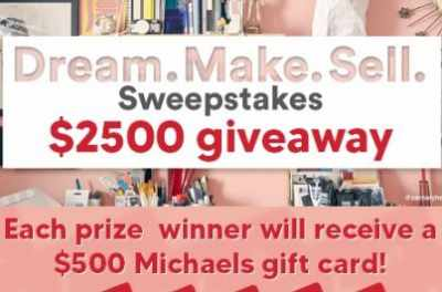 Michaels Dream Space Sweepstakes
