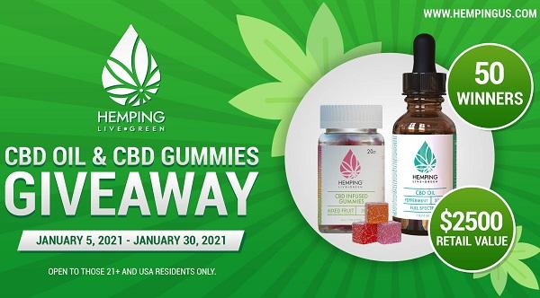 CBD Oil & Gummies Giveaway