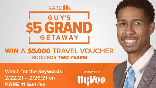 Kare 11 Guy's $5 Grand Getaway Contest