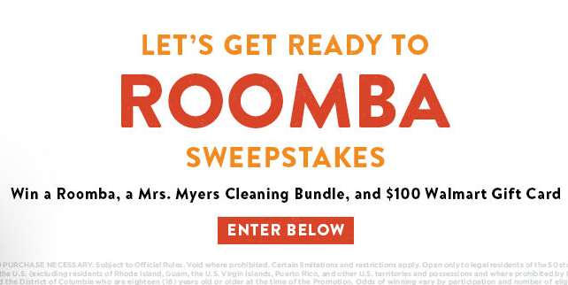 """INSP """"Let's Get Ready to Rooba"""" Sweepstakes"""