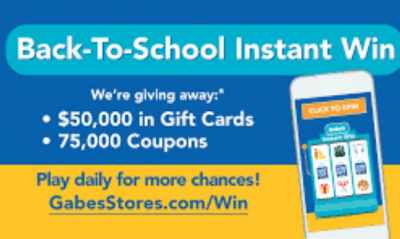 Gabe's Back To School Sweepstakes