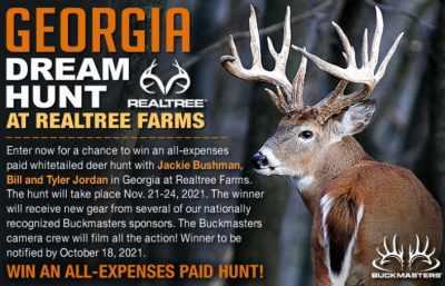 Buckmasters Georgia Dream Hunt Contest