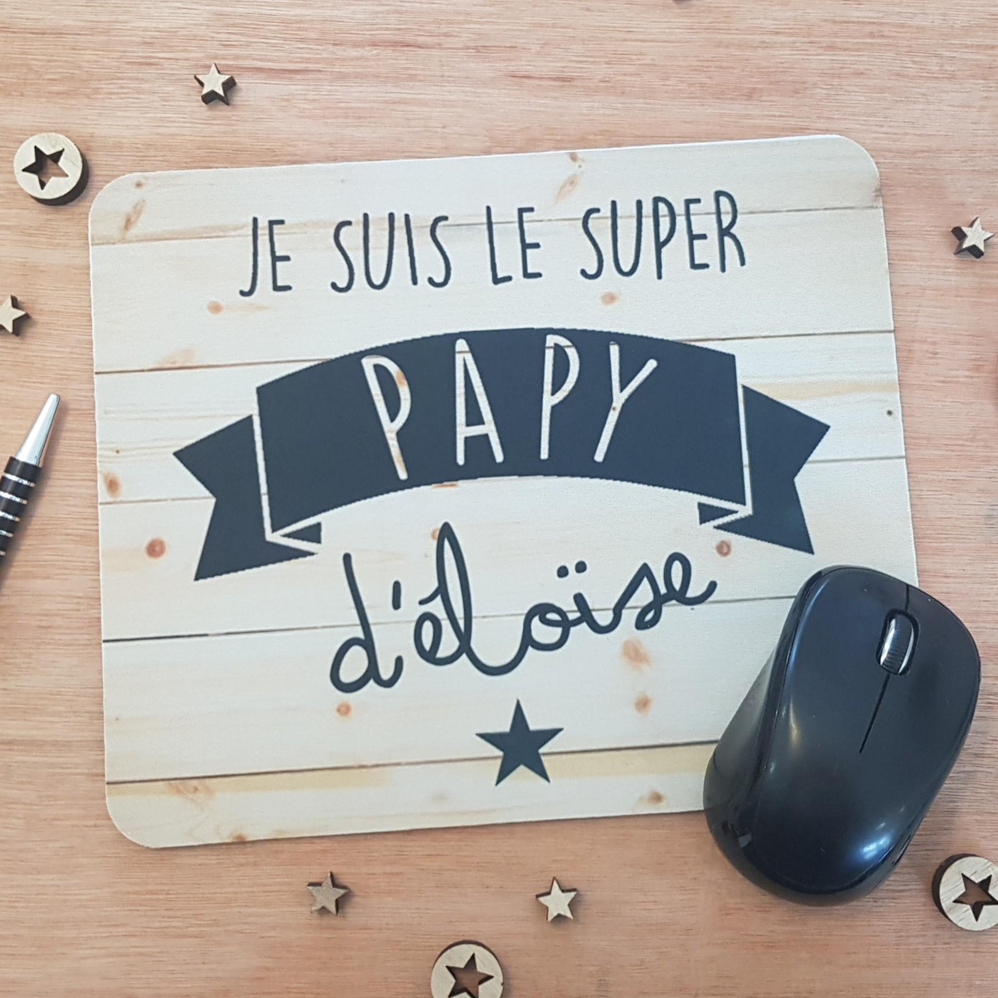 tapis de souris personnalisable tapis de souris papy
