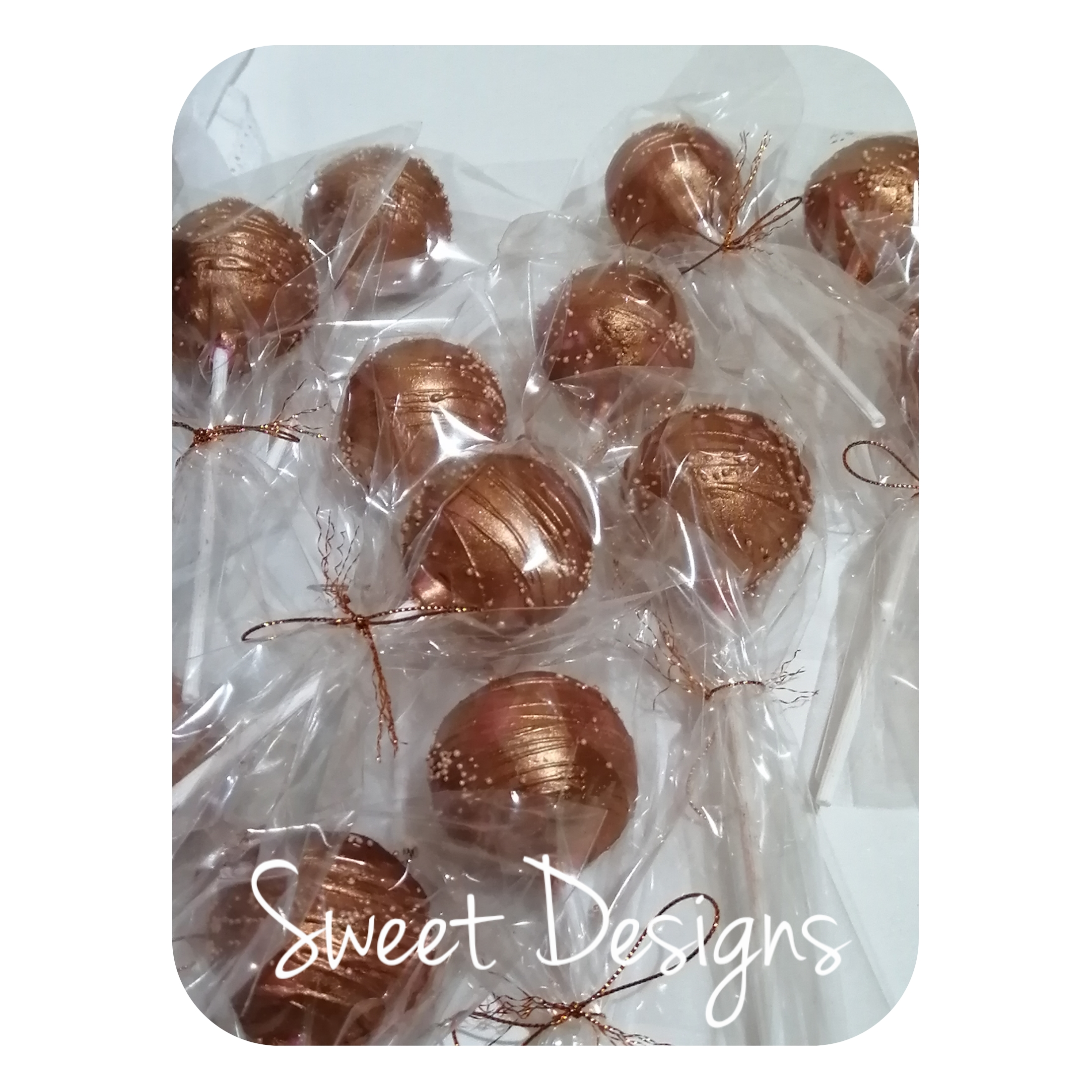 Rose Gold Cake Pops