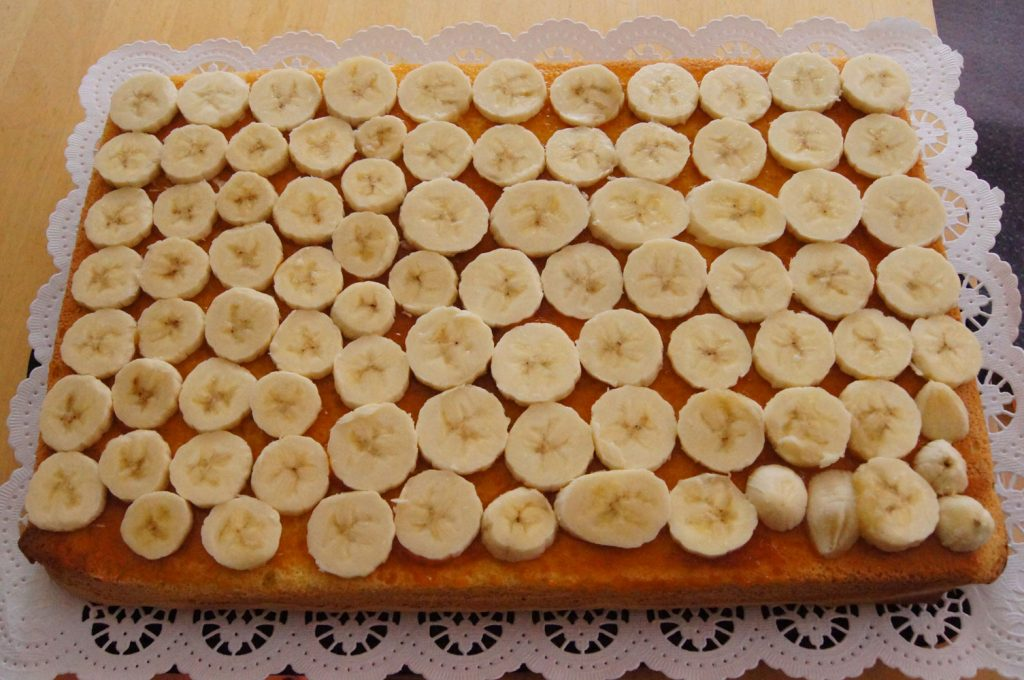 Bananen auflegen