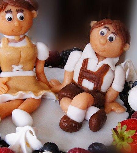 Naked Drip Wedding Cake