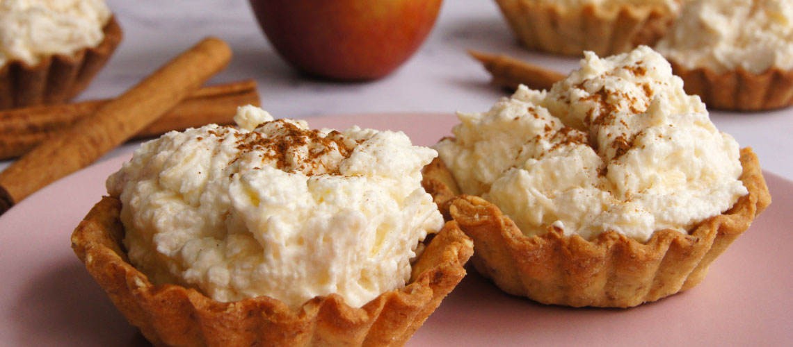 Vanillekipferl-Apfel-Zimt-Tartlettes