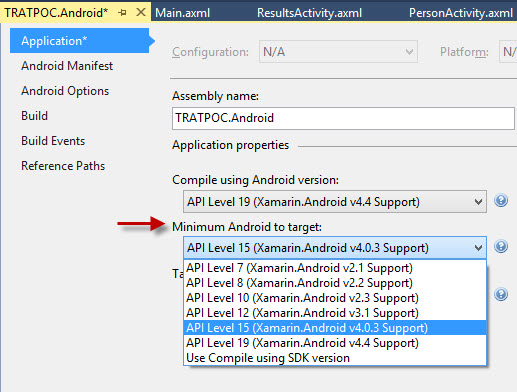 Android minimum version support