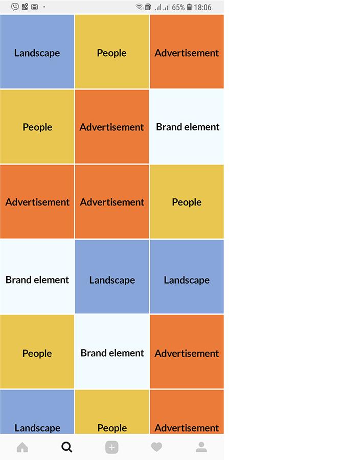 Pattern for instagram feed