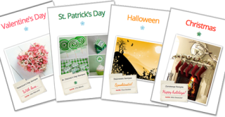 A4 Holiday Recipe Dividers – Valentine's Day, St. Patrick's Day, Halloween & Christmas