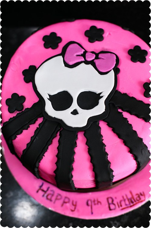 Brilliant Monster High Skull Birthday Cake Funny Birthday Cards Online Inifofree Goldxyz
