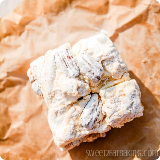 Caramel, pecan and vanilla bean marshmallows - Foodie PenPals July 2012