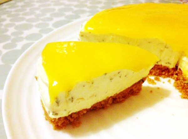Mango Ginger and Coriander Cheesecake