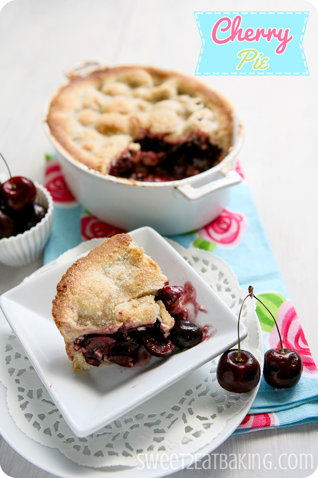 Traditional Cherry Pie Recipe by Sweet2EatBaking.com