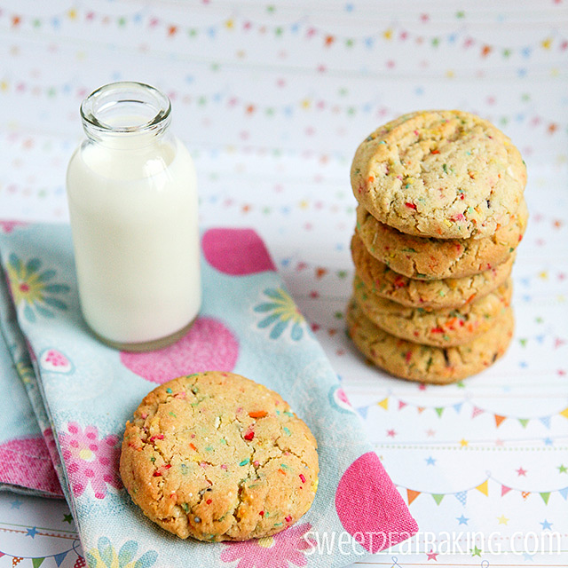 Funfetti Cake Batter Cookies | No cake mix