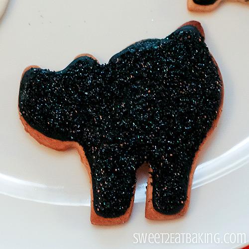 Halloween Cookies - Glitter Sparkly Black Cat
