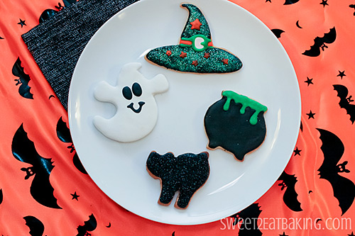 Halloween Cookies - Ghost, Witches Hat, Cauldron, Black Cat